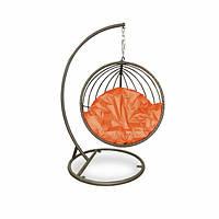 Подвесная качеля Mandarine из ротанга искусственного коричневая