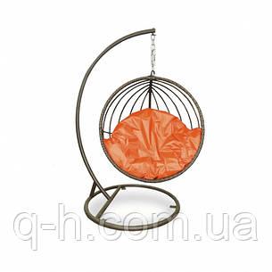 Подвесная качеля плетеная Mandarine из ротанга искусственного коричневая, фото 2