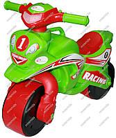 Мотоцикл-каталка МотоБайк Спорт красный с зеленым