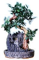 Фонтан декоративный с деревьями и водяной мельницей домашний комнатный настольный мини 47*30*22