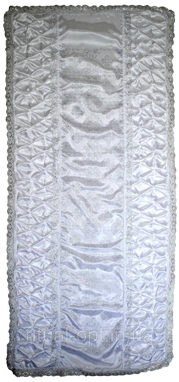 Покрывало ритуальное крестик серебро