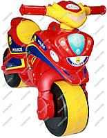 Мотоцикл-каталка МотоБайк Полиция красный с желтым