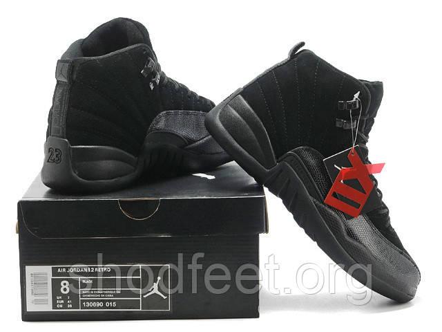 Мужские баскетбольные кроссовки Air Jordan 12 Retro Black