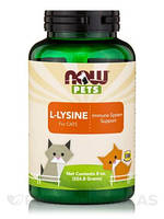 Лизин для кошек / NOW - PETS L-Lysine for Cats (226.8 g)