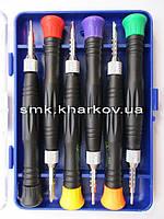 Набор отверток для мобильных телефонов с фиксатором  (BLUE DIAMOND 0803)