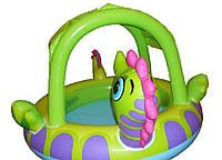 Детский надувной бассейн Intex 57110 Морской конек с навесом 188 х 147 х 104 см, фото 1