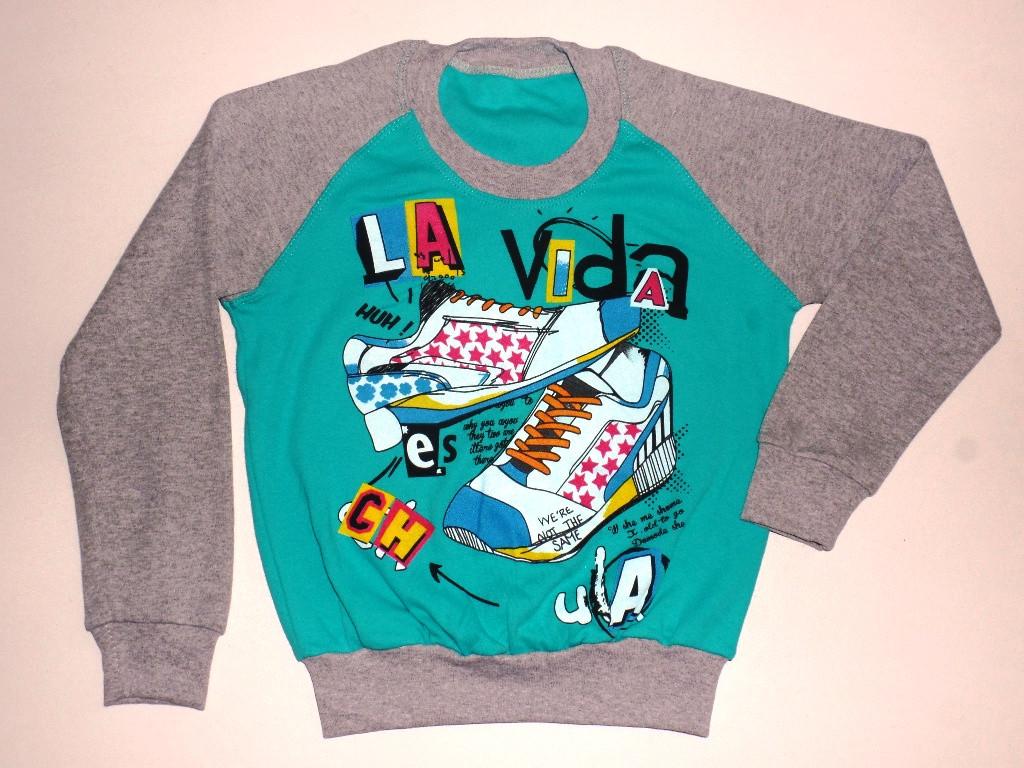 """Реглан с манжетом """"La vida"""" для мальчика 8 лет"""