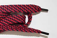 Шнурки плоские 15мм. (чехол) красный+т.синий, фото 1