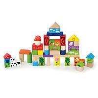 Набор строительных блоков Viga toys Ферма 50 шт. (50285)