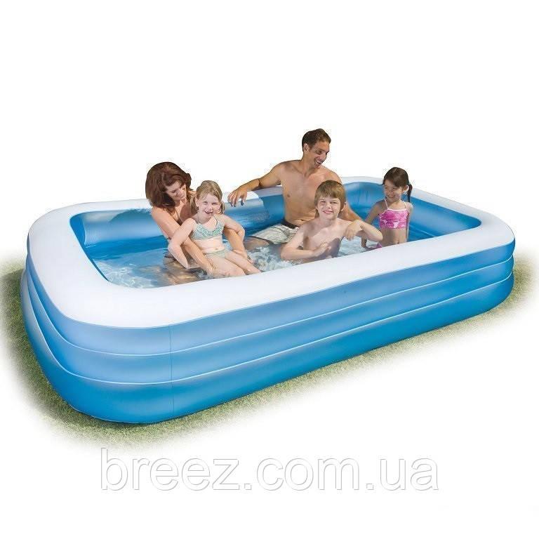 Детский надувной бассейн Intex 58484 прямоугольный 305 х 183 х 56 см