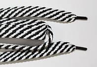 Шнурки плоские 15мм. (чехол) белый+черный, фото 1