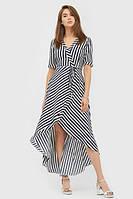 Жіноче асиметричне плаття-максі в смужку Lisa