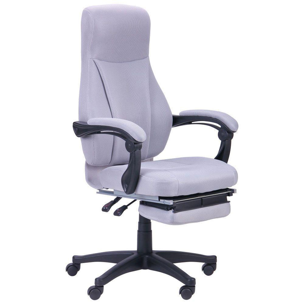 Крісло офісне Smart пластик механізм Relax тканина Сіра (AMF-ТМ)
