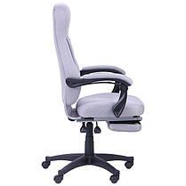 Кресло офисное Smart пластик механизм Relax ткань Серая (AMF-ТМ), фото 3