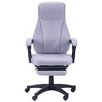 Крісло офісне Smart пластик механізм Relax тканина Сіра (AMF-ТМ), фото 2