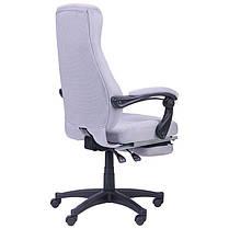 Крісло офісне Smart пластик механізм Relax тканина Сіра (AMF-ТМ), фото 3