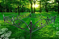 Оградки и ограды на кладбище
