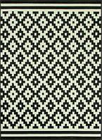 Ковер черно-белый  ромбы №2