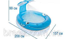 Детский надувной бассейн Intex 57435 Кит с фонтаном, 208 х 157 х 99 см, фото 3