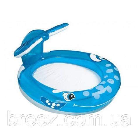 Детский надувной бассейн Intex 57435 Кит с фонтаном, 208 х 157 х 99 см, фото 2