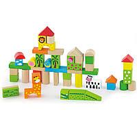 Набор строительных блоков Viga toys Зоопарк 50 шт. (50286)