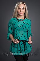 Блуза женская из принтованного шифона
