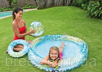Детский надувной бассейн Intex 59460 Звезды с надувным кругом и мячом 122 х 25 см, фото 2
