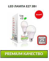 Светодиодная лампа LED 3Вт Стандарт E27 4100/6500