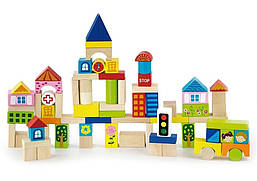 Набор строительных блоков Viga toys Город 75 шт. (50287)