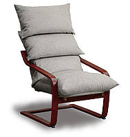 Супер комфорт кресло Серый, Махонь