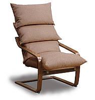Супер комфорт кресло Бежевый, Орех