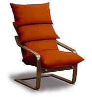Супер комфорт кресло Оранжевый, Орех