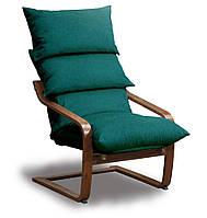 Супер комфорт кресло Голубой, Орех