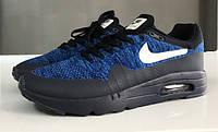 Кроссовки мужские Nike Air Max 87 ultra flyknit 15175 черно-синие