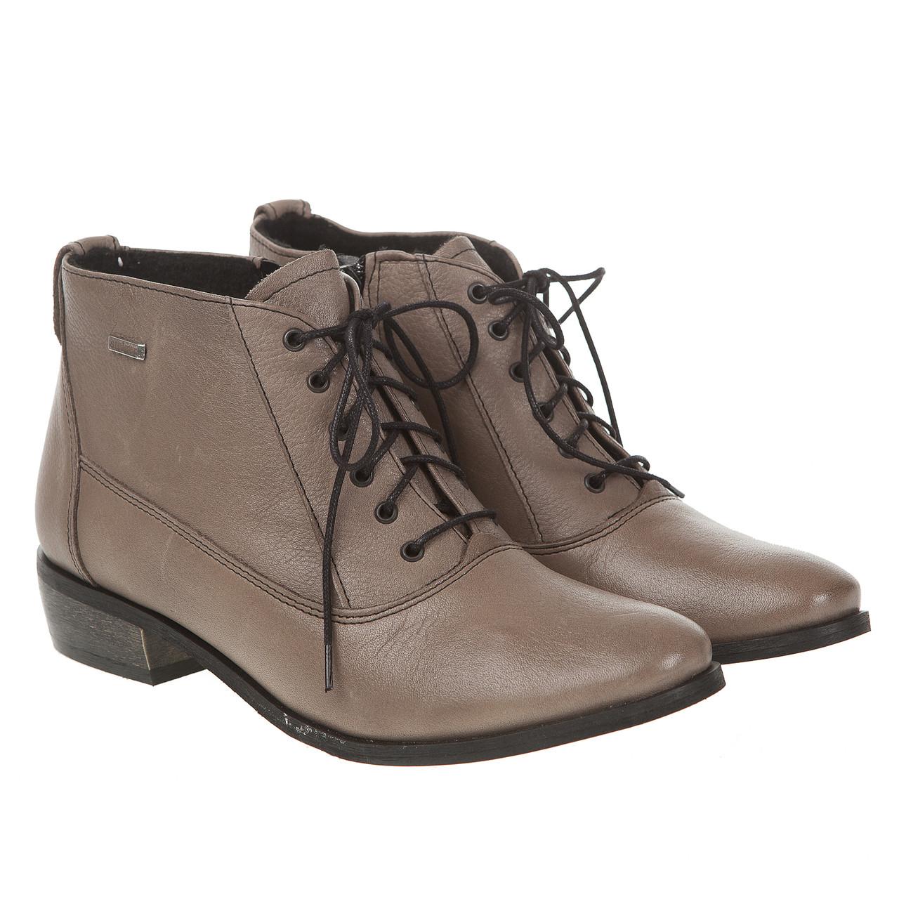 567513b1d NEW Ботинки женские Steizer (кожаные, оригинальный оттенок хаки, на  шнурках, на удобном каблуке