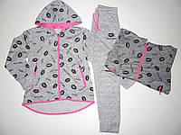 Трикотажный костюм-двойка для девочек S&D оптом, 134-164 pp.