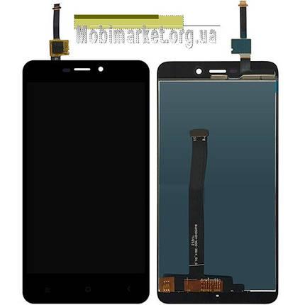 Модуль (дисплей + сенсор) для Xiaomi Redmi 4X original чорний, фото 2