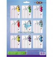 Етекетки шкільні ZiBi 1500-02 А4 для зошитів 55мм*75мм 10арк. по 9шт сині