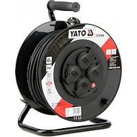 Удлинитель электр . тока до 16 А YATO на катушке ; кабель 3 - жильный Ø=1,5 мм², l= 40 м
