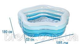 Детский надувной бассейн Intex 56495 Морская звезда 183 х 180 х 53 см, фото 3