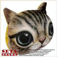 """Подушка - антистресс """"Кошка"""" из силиконовыми шариками бежевая"""
