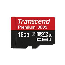 Карта памяти Transcend microSDHC 16GB Class 10 UHS-I Premium (TS16GUSDCU1)