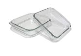 Форма Деко квадрная стеклянная жаропрочная 2 шт в наборе