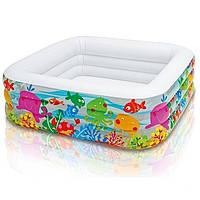 Детский надувной бассейн Intex 57471 Аквариум 159 х 159 х 50 см, фото 1