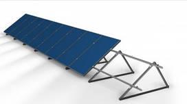 """Крепление солнечных панелей на крышу под углом """"АКТИВ-α 12S11- R45°"""" (для 11 фотомодулей)"""