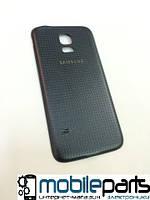 Задняя панель корпуса (крышка) для Samsung Galaxy S5 Mini SM-G800 (Качество ААА) (Черная)
