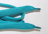 Шнурки плоские (чехол) 15мм. мор.волна