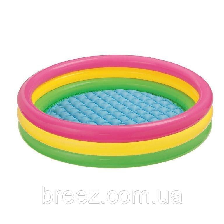 Детский надувной бассейн Intex 57412 Радужный 114 х 25 см