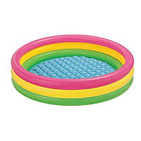 Детский надувной бассейн Intex 57412 Радужный 114 х 25 см, фото 1