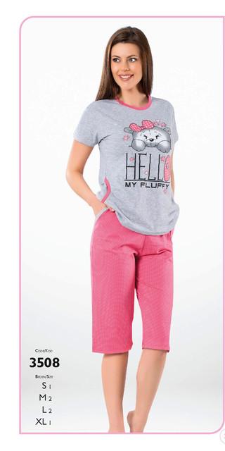 Пижамы женские с капри и бриджами